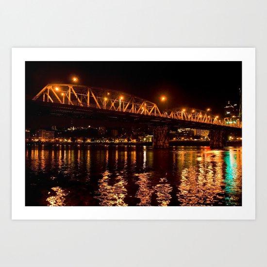 hawthorn bridge Art Print