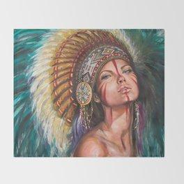 Sioux  Throw Blanket