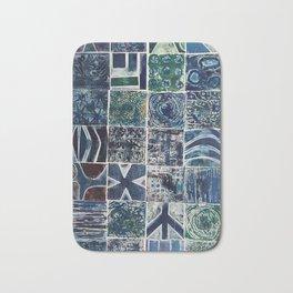 Quilt of a Sort in Blue Bath Mat