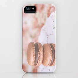 Chocolate Macarons iPhone Case