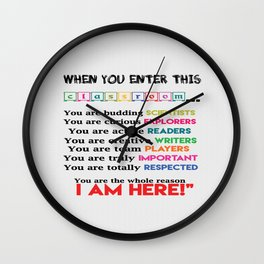 Classroom & teachers Connection Education Inspirational Quote Wall Clock