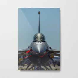 F-16 Fighting Falcon Metal Print