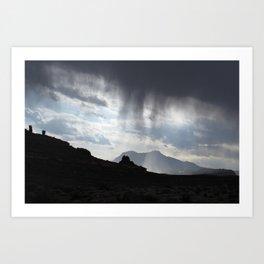 Virga over the Henry Mountains Art Print