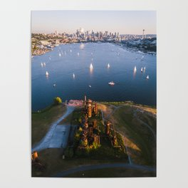Gas Works and Lake Union Poster
