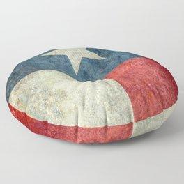 Texas flag, Grungy Vertical Banner Floor Pillow