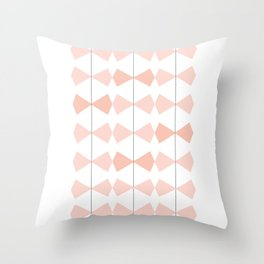 Pretty Bows All In A Row Throw Pillow