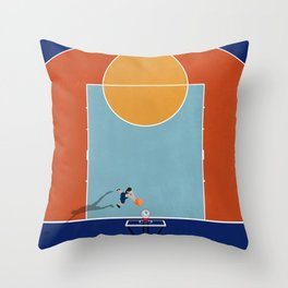 Shooting Hoops | Basketball Court From Above  Throw Pillow