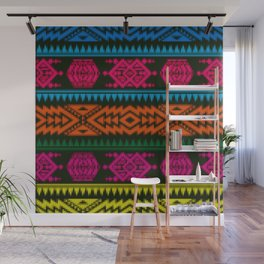 Ethnic Knitted pattern Wall Mural
