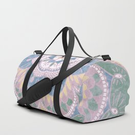 Faded Desert Flower Mandala Duffle Bag