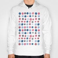 polka dots Hoodies featuring polka dots by Asja Boros Designs
