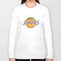 lakers Long Sleeve T-shirts featuring Lakers by Dexter Gornez