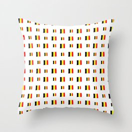 Flag of belgium 8 handmade Throw Pillow