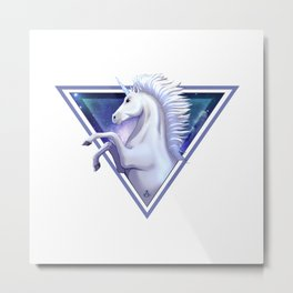 Light Unicorn Metal Print