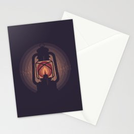 Oil lamp Stationery Cards