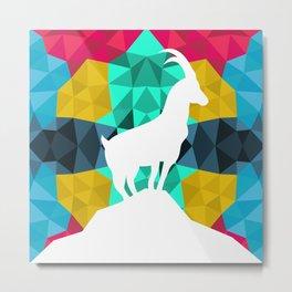 Origami Goat Metal Print