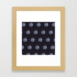 Planet Pixel (pattern) Framed Art Print