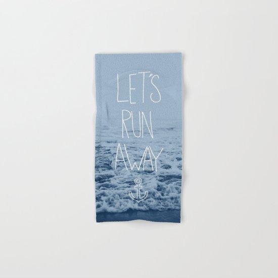 Let's Run Away: Ocean Hand & Bath Towel