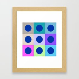 Colorblock Dots Graphic Design Geometric Framed Art Print