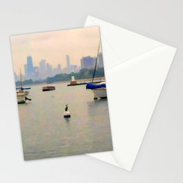 Lake by the City Stationery Cards