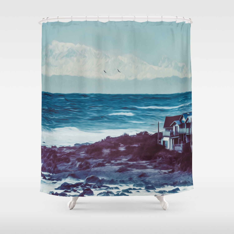 Owhiro Bay Gliders Shower Curtain