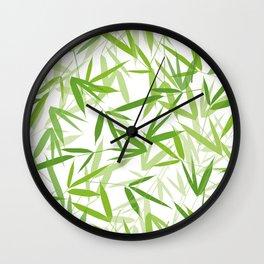 Bamboo Leaves Wall Clock