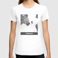 copenhagen T-shirts featuring Copenhagen by Map Map Maps