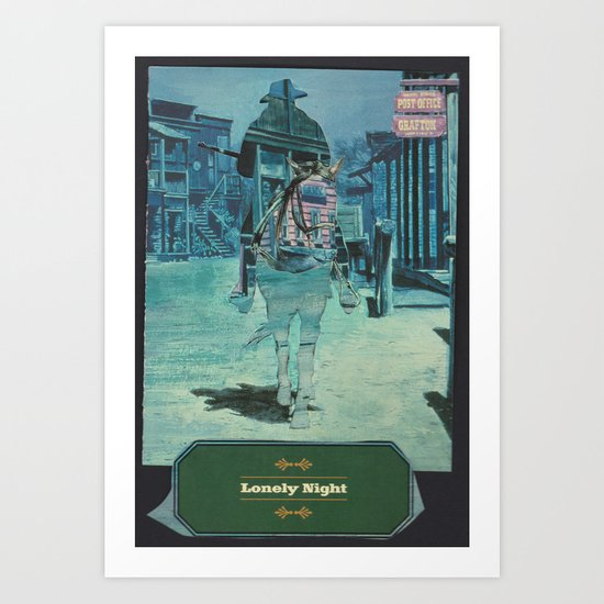 The Unknown Rider: Lonely Night Art Print