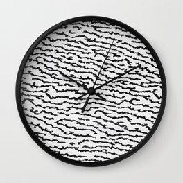 Inverted Black and White Zebra Print Wall Clock