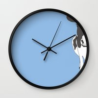calvin and hobbes Wall Clocks featuring Calvin by caseysplace