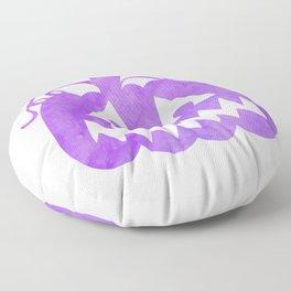 Halloween Watercolor Pumpkin Face Purple 6 Floor Pillow