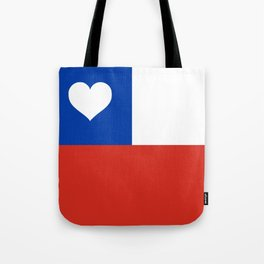 Texas State Flag with Heart Tote Bag