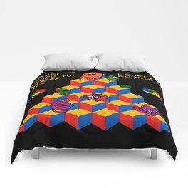 """Dachedelic"" ~ Dachshund, Weiner Dog, Doxie, everywhere!  Comforters"