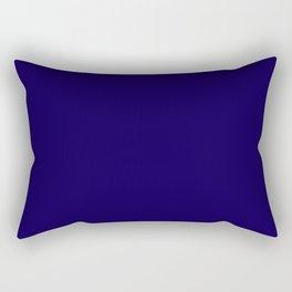 Simply Navy Blue Rectangular Pillow