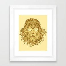 Lions Are Smarter Than I Am Framed Art Print