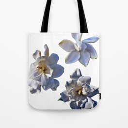 3 White Gardenias [Cecilia Lee] Tote Bag