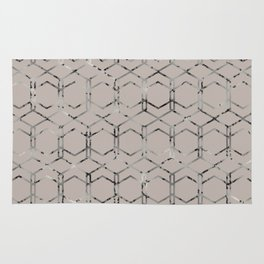 Silver Geometric Art Deco - Gatsby Taupe Rug