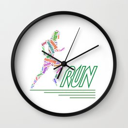Running girl Wall Clock