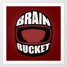 Brain bucket Art Print