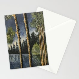 Lake Woodsman View Stationery Cards