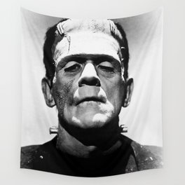 Frankenstein 1933 classic icon image, flawless, timeless horror movie classic Wall Tapestry