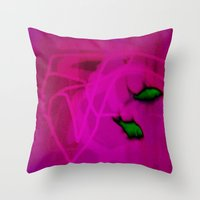 ships Throw Pillows featuring FISH&SHIPS by lucborell