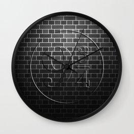 Platform 9 3/4 Black Brick Wall Wall Clock