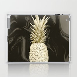 Golden Pineapple Marble Laptop & iPad Skin