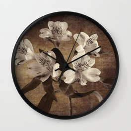 Vintage Flowers Digital Collage 19 Wall Clock