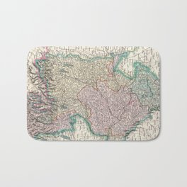 Vintage Map of Bavaria Germany (1799) Bath Mat