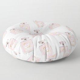 Classic Pink Parfum Pattern Floor Pillow
