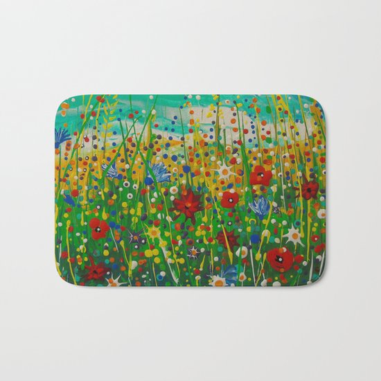 Flowers of happiness Bath Mat