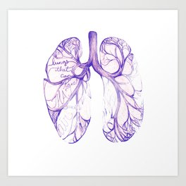 Lungs that can take that much air! By Sarah Clement Art Print