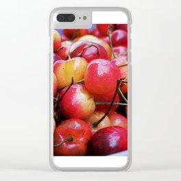Cheerful Cherries Clear iPhone Case