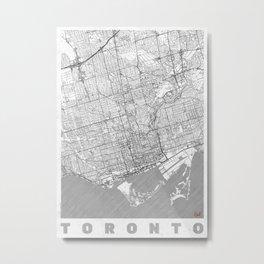 Toronto Map Line Metal Print